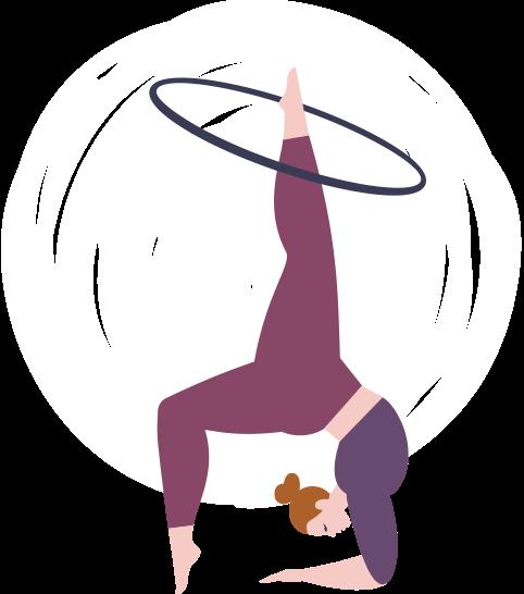 Dance-Hoop OFF-BODY<br>80 - 85 cm Durchmesser