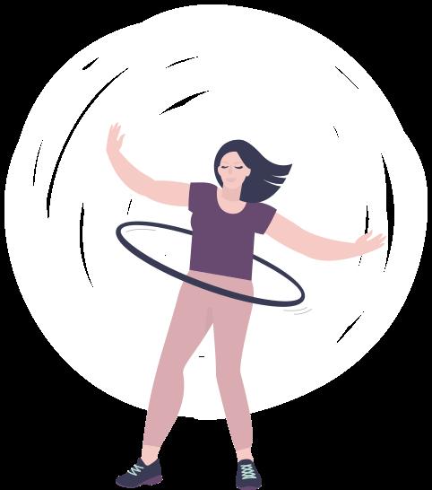 Dance-Hoop ON-BODY<br>90 - 105 cm Durchmesser